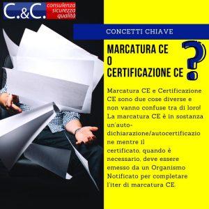 Perché la marcatura invece che la certificazione?